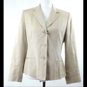 NWT VTG $200 Ann Taylor Wool Silk Blend Blazer